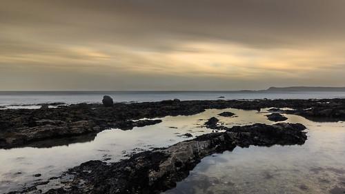 beach 2020 cloneastrand ireland winter sunset sea sky reflection water clouds strand landscape coast rocks outdoor stones coastal coastline dungarvan waterford