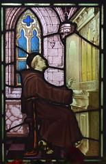 friar playing the organ