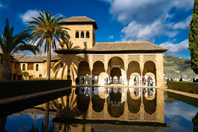 Generalife Gardens, Alhambra, Granada, Spain