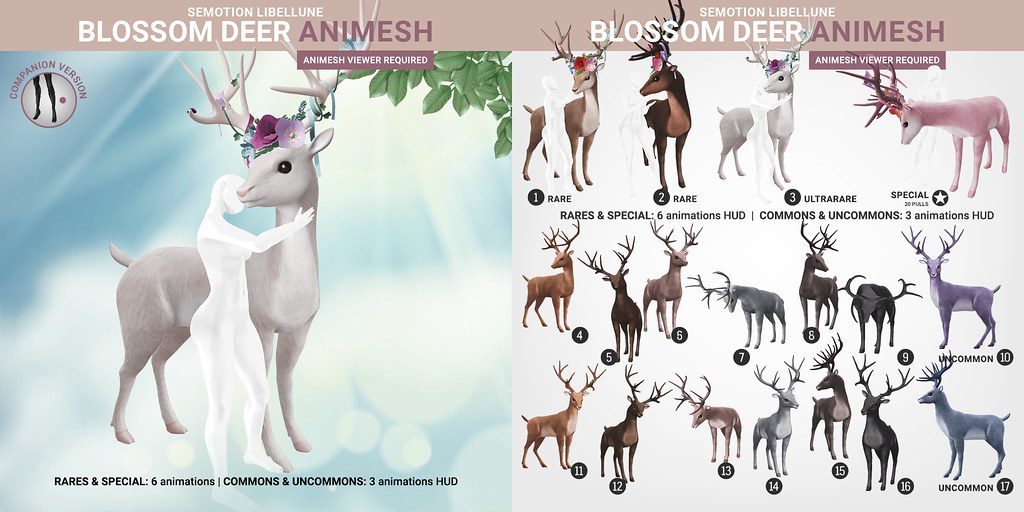 SEmotion Libellune Blossom Deer Animesh (Companion version)