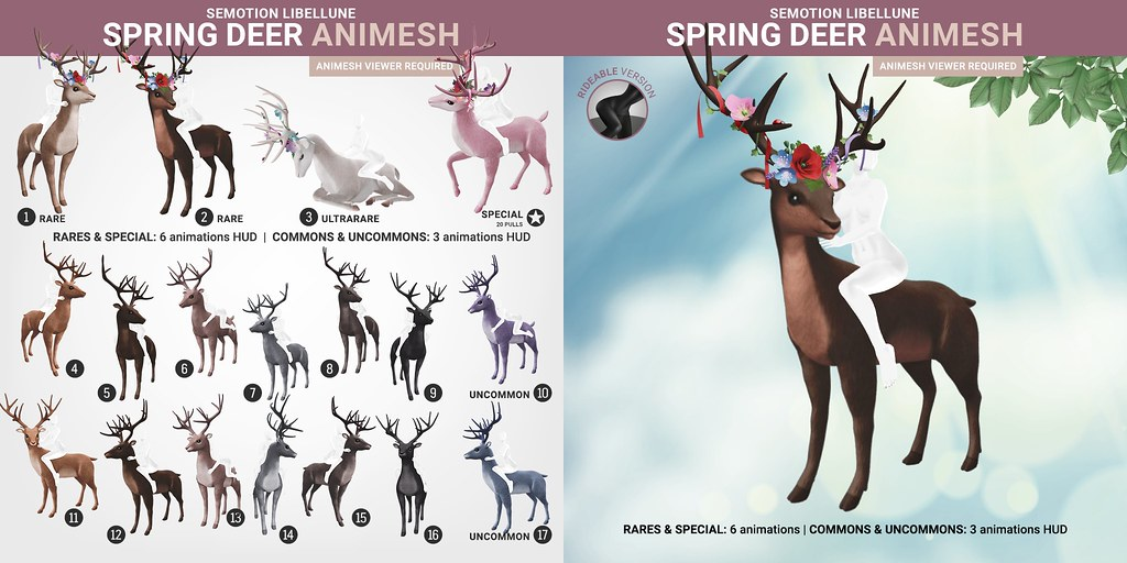 SEmotion Libellune Spring Deer Animesh  (Rideable version)
