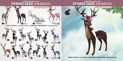 SEmotion Libellune Spring Deer Animesh  (Rideable version)