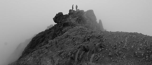 Rucu Pichincha Volcano Summit at 4,696 meters (15,413 ft) above sea level, Quito, Ecuador.