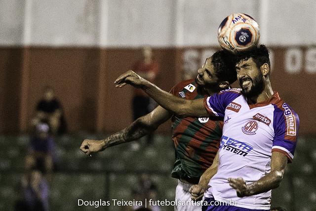 Portuguesa Santista 1 x 1 Penapolense, jogo válido pelo Paulistão A2 de 2020, disputado no dia 13 de fevereiro, no estádio Ulrico Mursa, em Santos