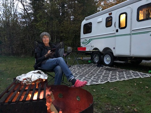 Balsam Lake - Linda by the fire