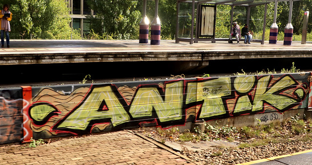 Graffiti along the railway