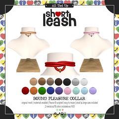.:Short Leash:. Bound Pleasure Collar