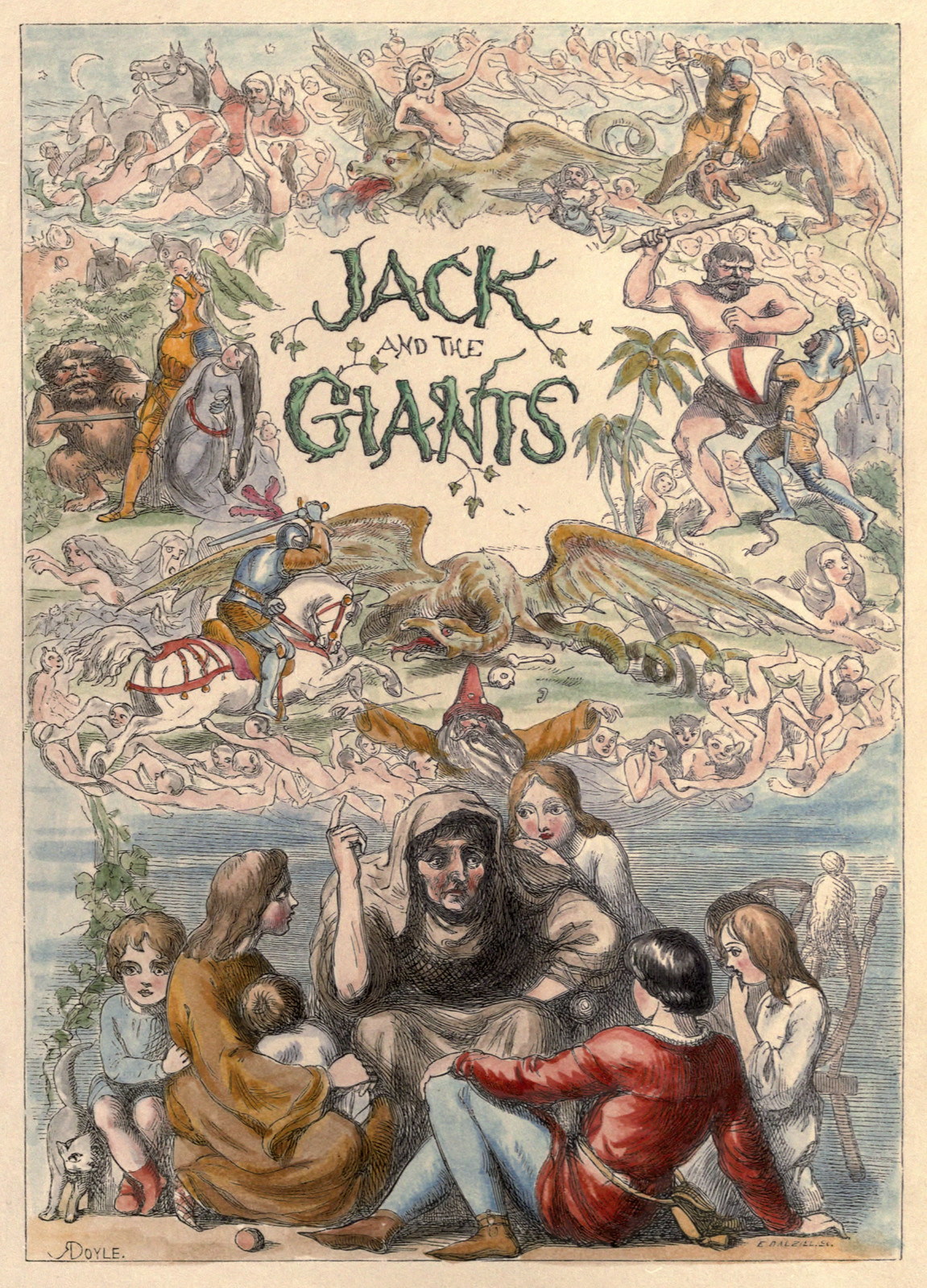 Richard Doyle - The Story of Jack and the Giant, 1851, title page