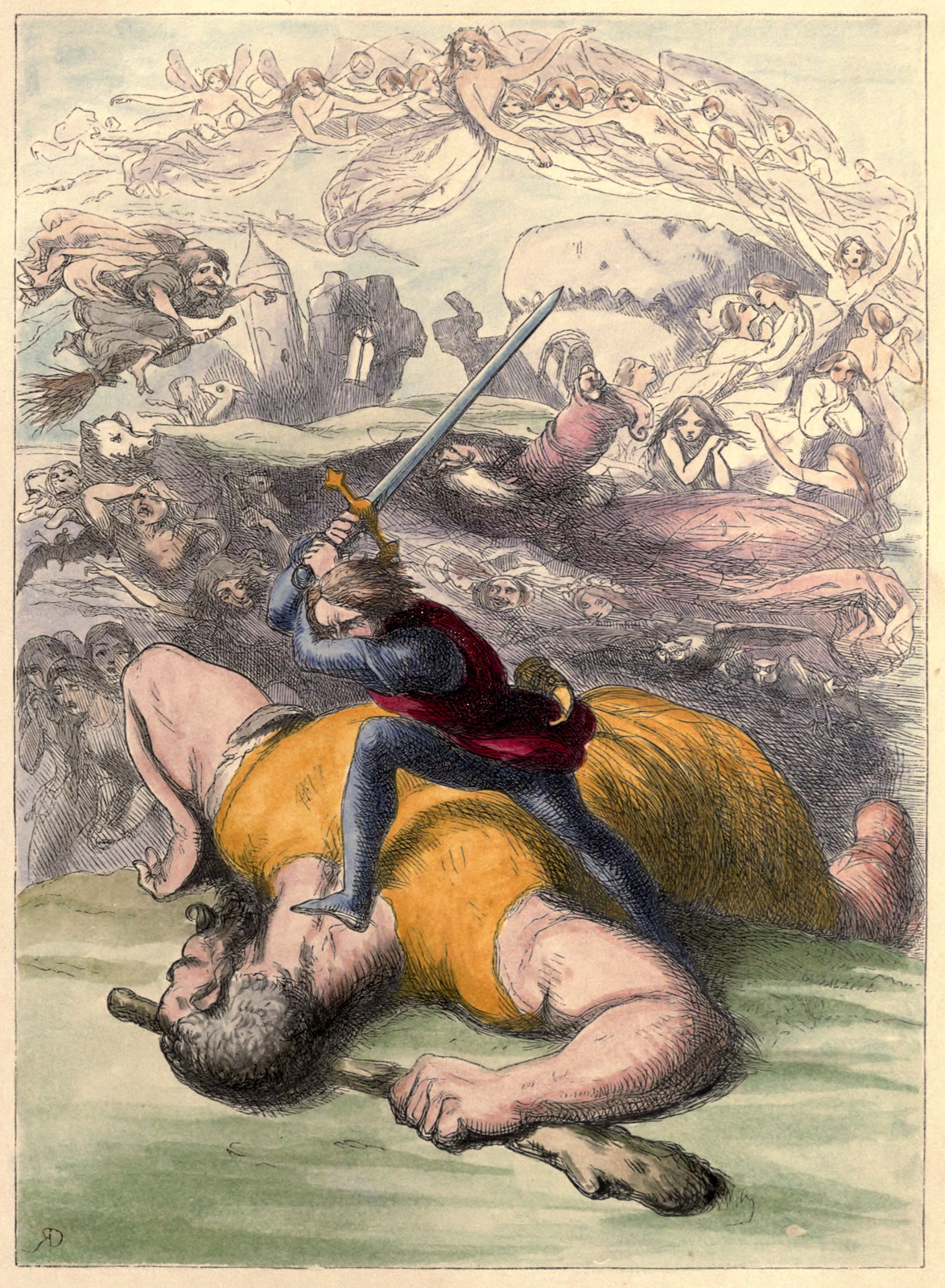 Richard Doyle - The Story of Jack and the Giant, 1851, Illustration 05