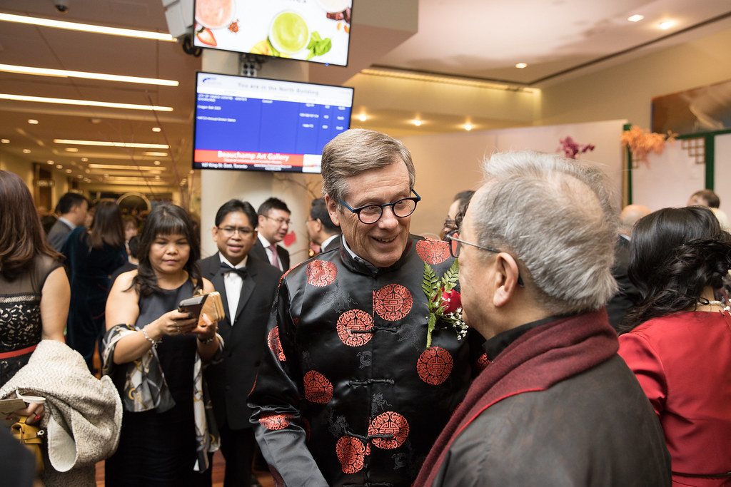 Mayor John Tory greeting guests at Dragon Ball 2020