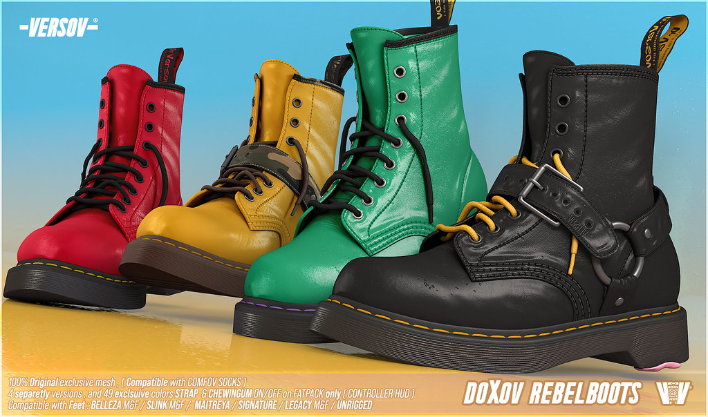 [ Versov] DOXOV BOOTS available at Kustom9