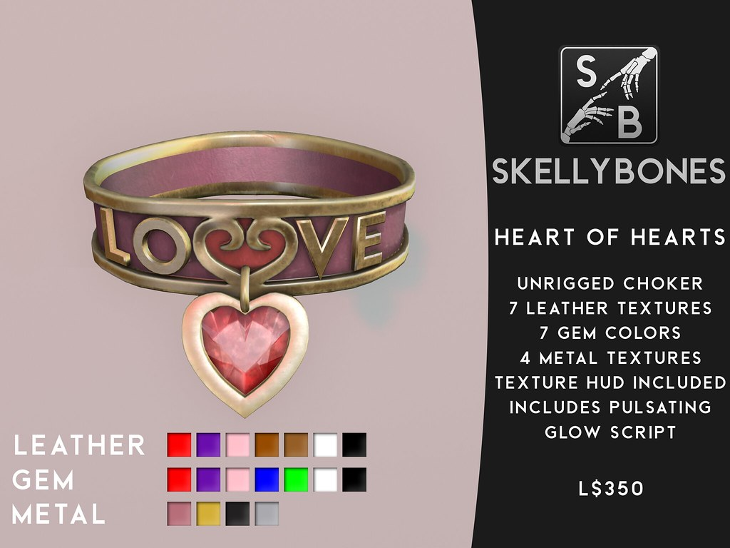 Skellybones — Heart of Hearts Choker