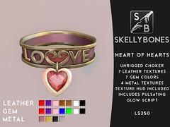 Skellybones -- Heart of Hearts Choker
