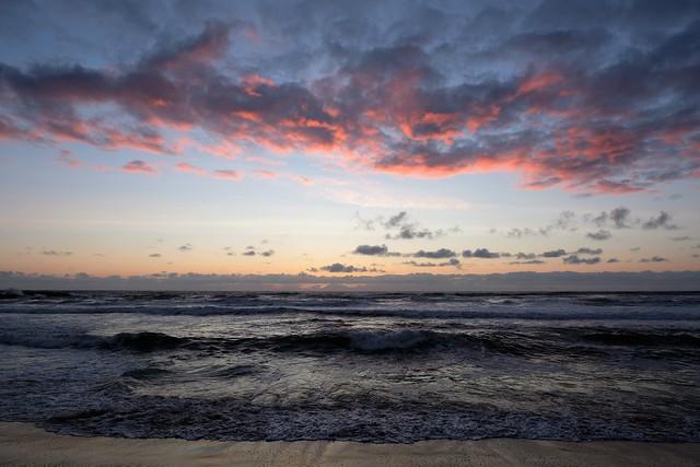 Oily Sunset Sea