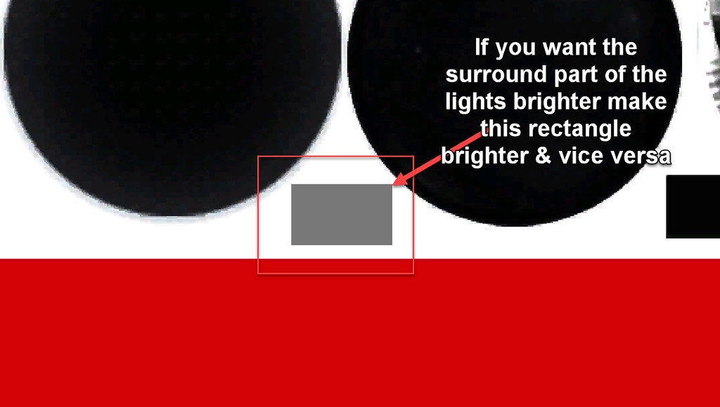 Light Surround Texture Location