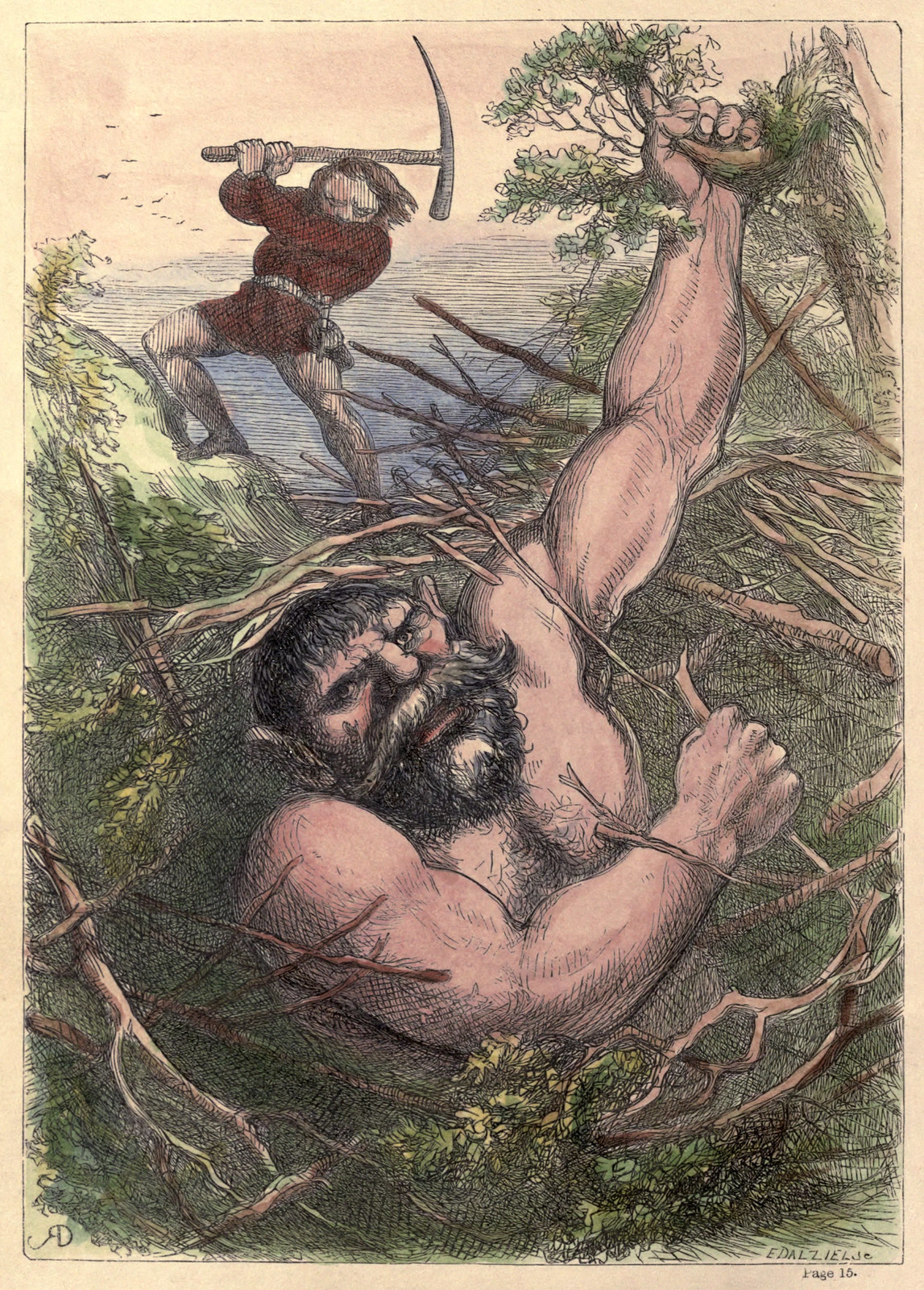 Richard Doyle - The Story of Jack and the Giant, 1851, Illustration 10