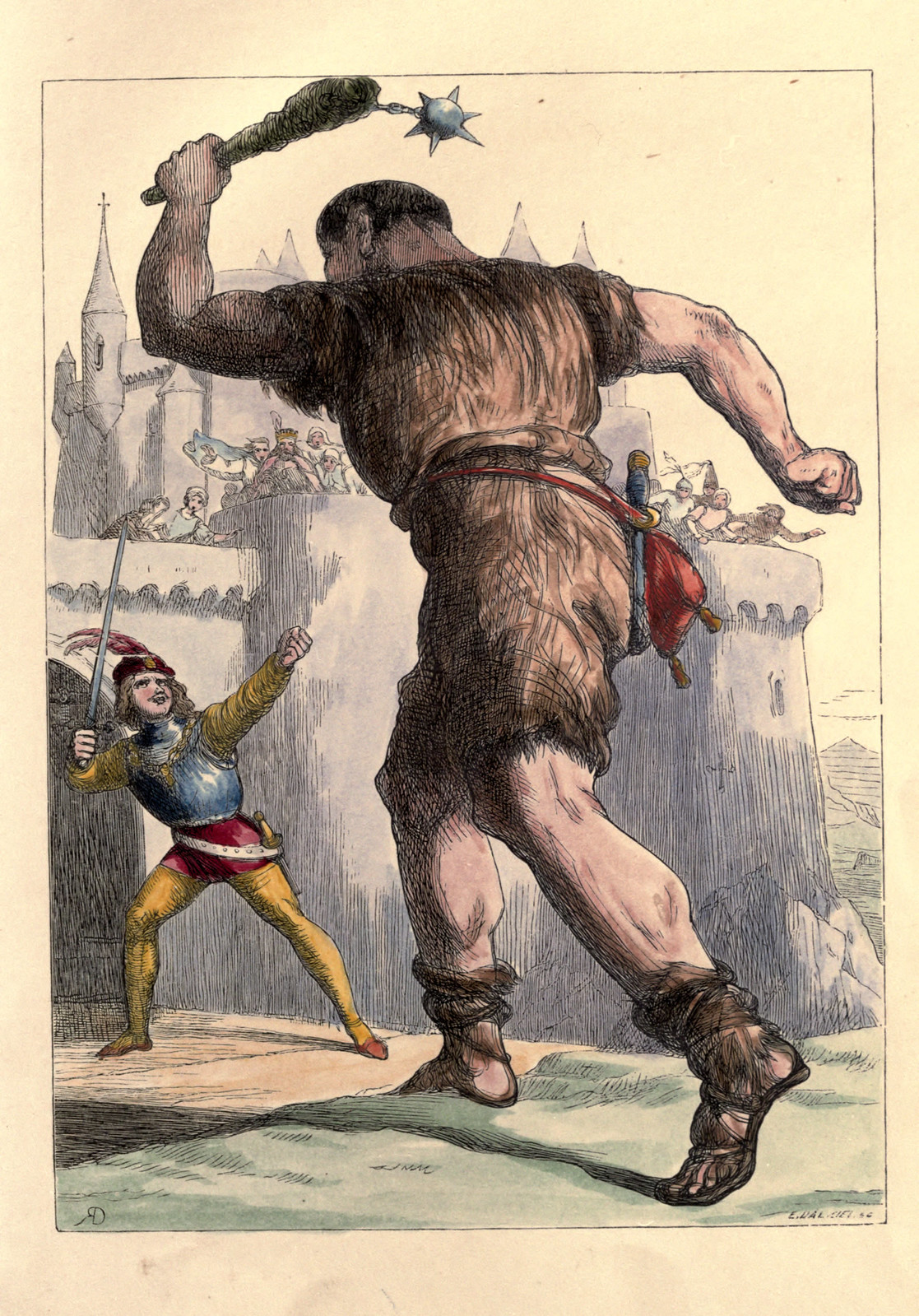Richard Doyle - The Story of Jack and the Giant, 1851, Illustration 09