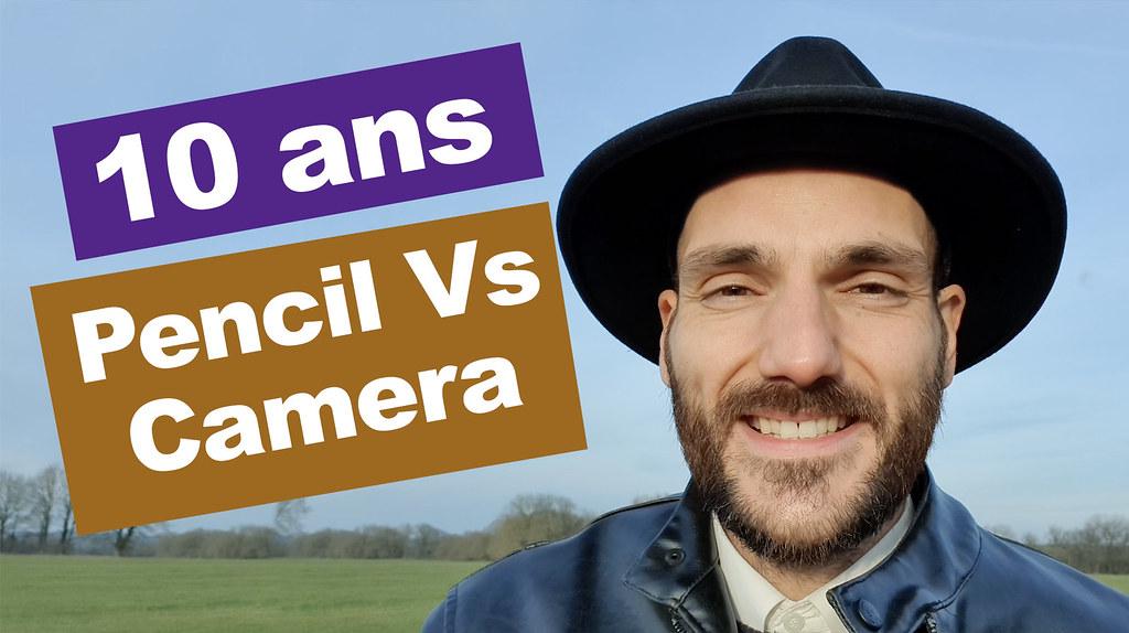 Vidéo: Images créatives Pencil Vs Camera mélangeant dessin et photo (200 avant/après sur 10 ans !)