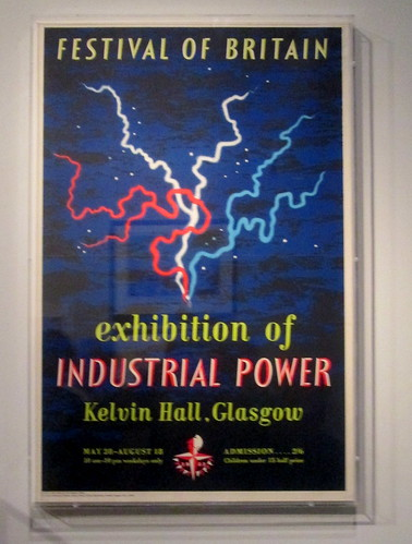 Poster for Festival of Britain Industrial Light and Power Exhibition