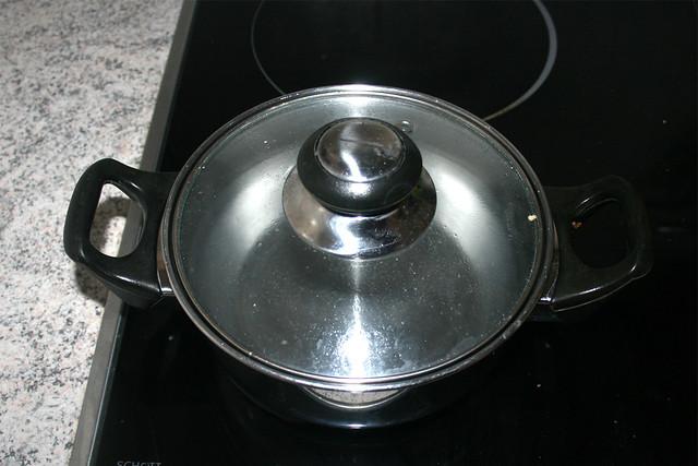21 - Wasser im Topf erhitzen / Heat up water in pot