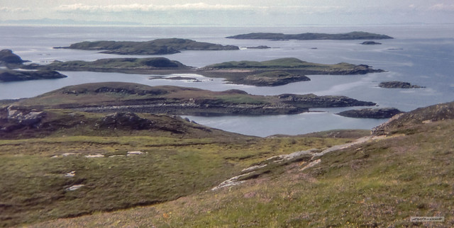The Summer Isles, near Achiltibuie, from the largest island, Tanera More, with Lewis and Harris over 40 miles away on the horizon.