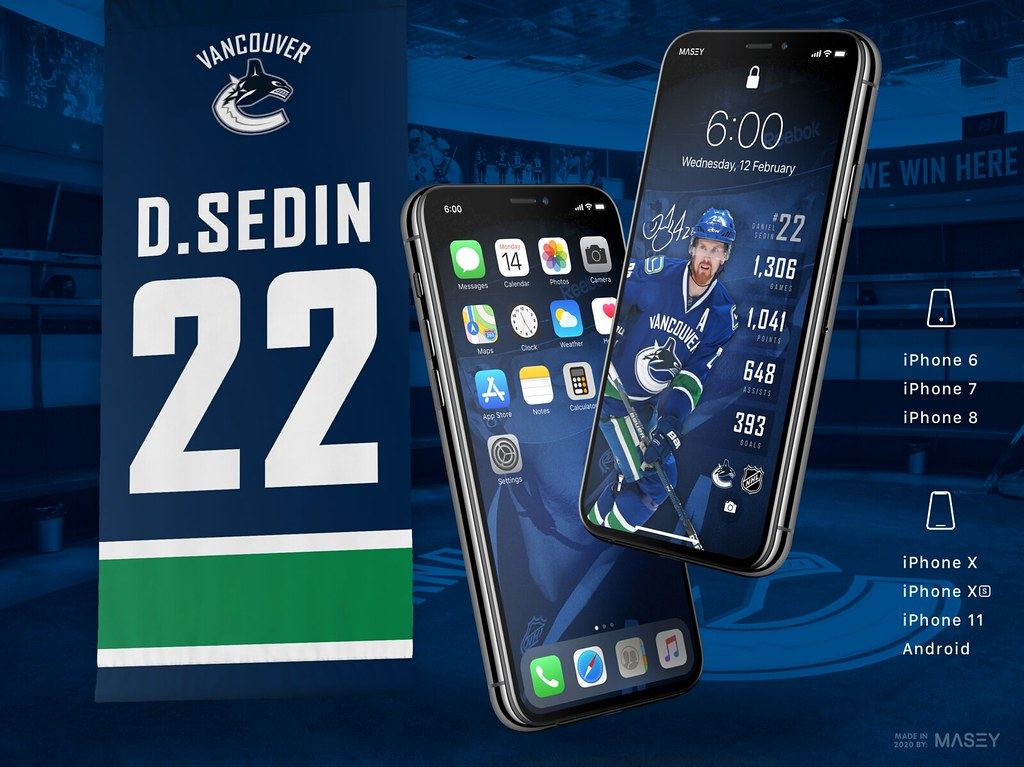 Daniel Sedin (Vancouver Canucks Jersey Retirement) iPhone Wallpaper