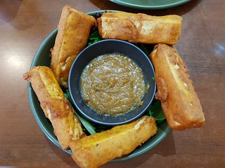 Satay Tofu at The Green Edge