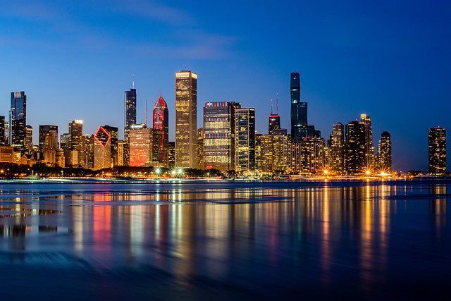 Chicago NBA All-Star 2020 Skyline Sunset