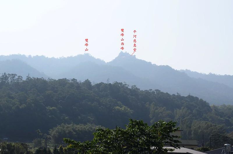 台13線東眺雙峰山