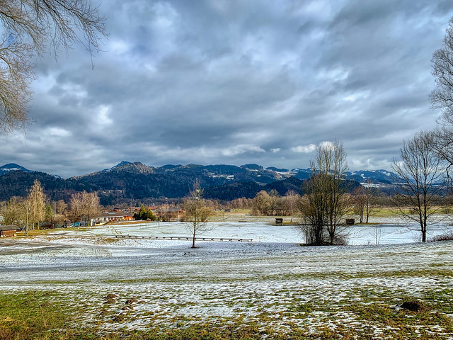 Winter landscape near Oberaudorf, Bavaria, Germany