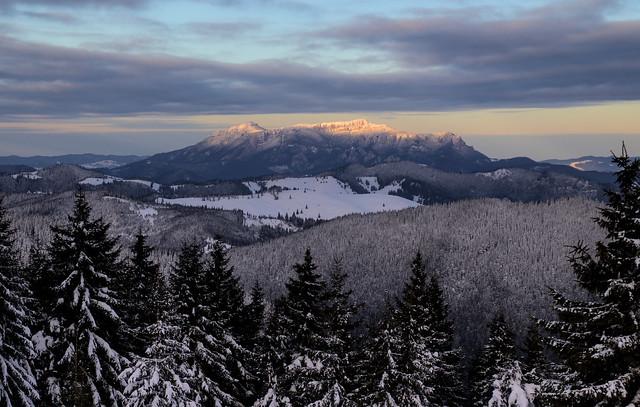 Ceahlau seen from Licos peak