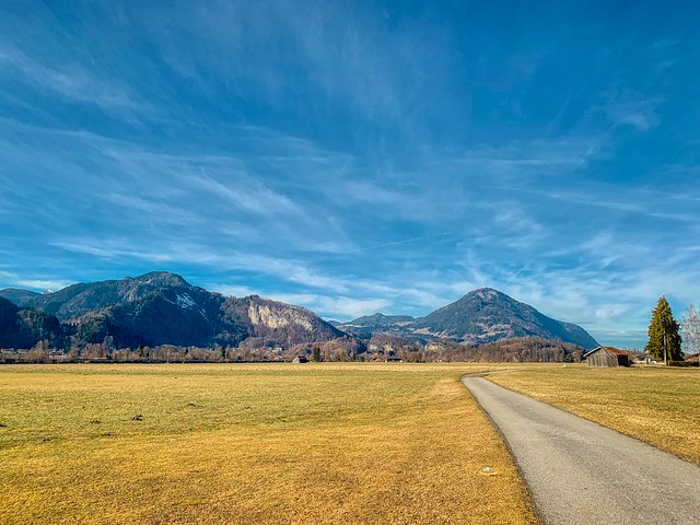 Landscape with mountains near Kiefersfelden, Bavaria, Germany