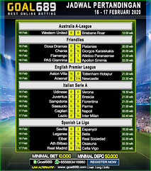 Jadwal Pertandingan Sepak Bola 16 - 17 Februari 2020