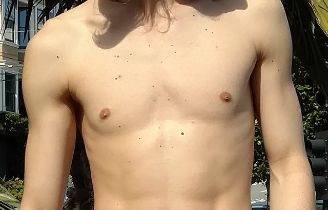 Sexy Smooth Shirtless Stud ! NUDE PARADE 2020 ! ( safe photo )