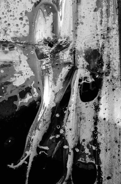 water Condensation inside plastic cover,  Monterey, CA 02-14-20