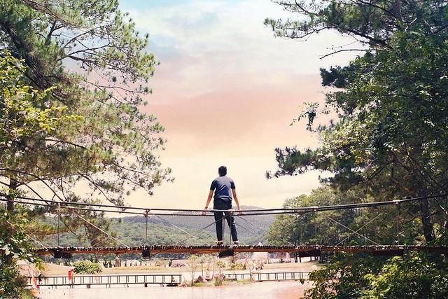 Phượt Hot - Những cây cầu dây treo giữa lòng Đà Lạt (13)