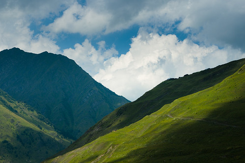 tusheti dartlo kakheti georgia mountains caucasus clouds hills shadow