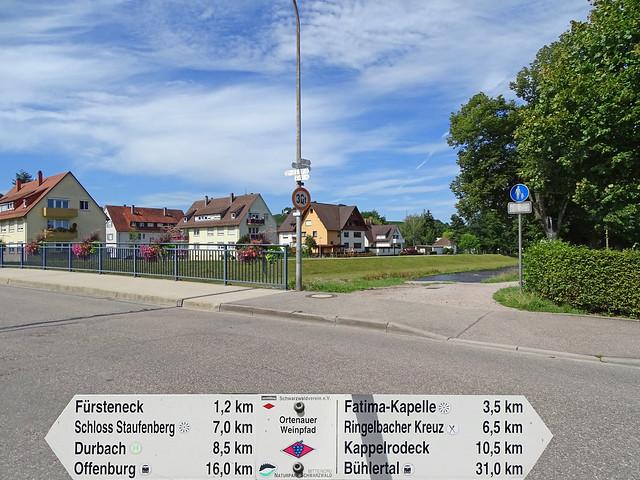 Nous quittons le centre d'Oberkirch