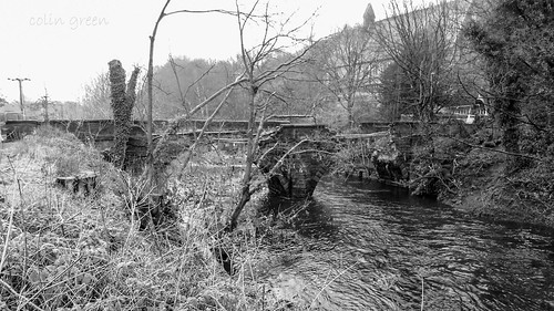 Remains of Copley Toll Bridge after the 2015 Boxing Day Floods