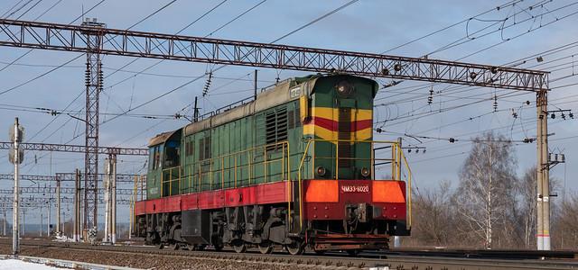 ЧМЭ3-6020, станция Кашира-Пассажирская, Московская область