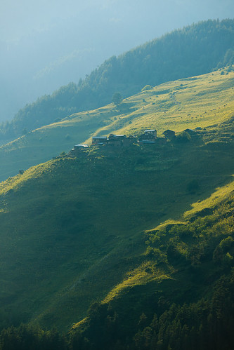 tusheti omalo kakheti georgia village settlement afternoon hill valley mountains caucasus