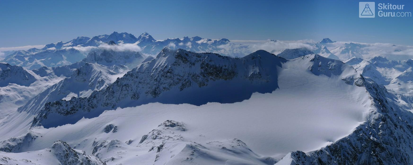 Piz Calderas Albula Alpen Schweiz panorama 32