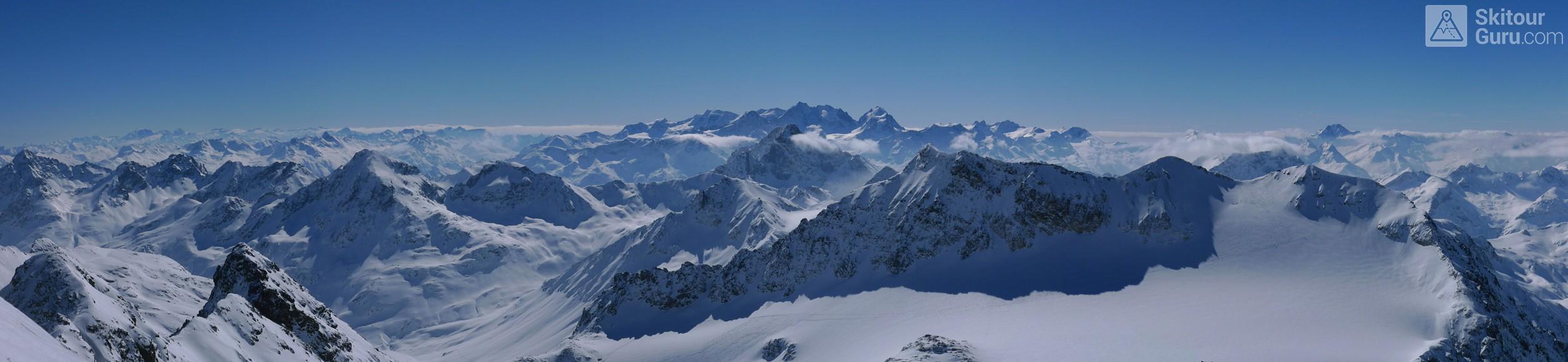 Piz Calderas Albula Alpen Schweiz panorama 33