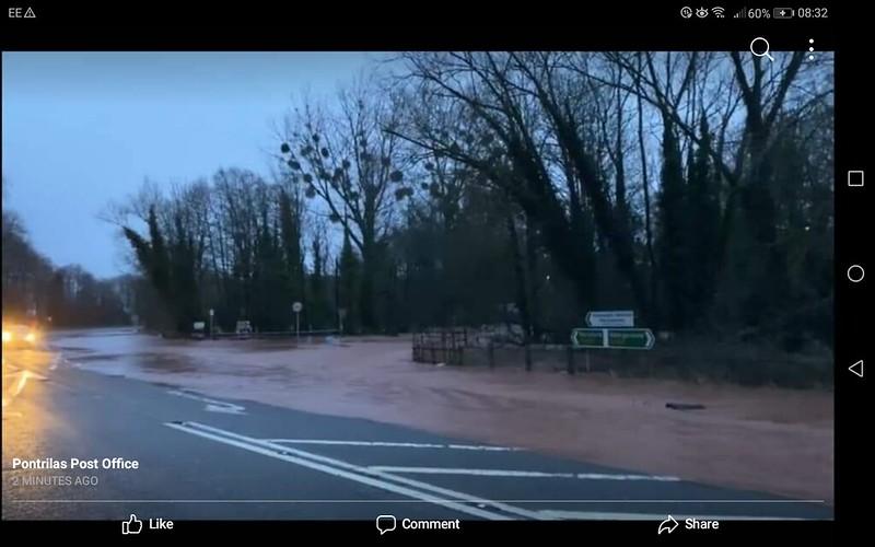 Storm Dennis: A465 Pontrilas