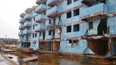 Destrozos ocasionados por el huracán Matthew en Baracoa