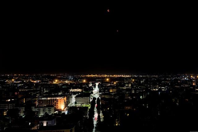 Nocturnal lunar landscape