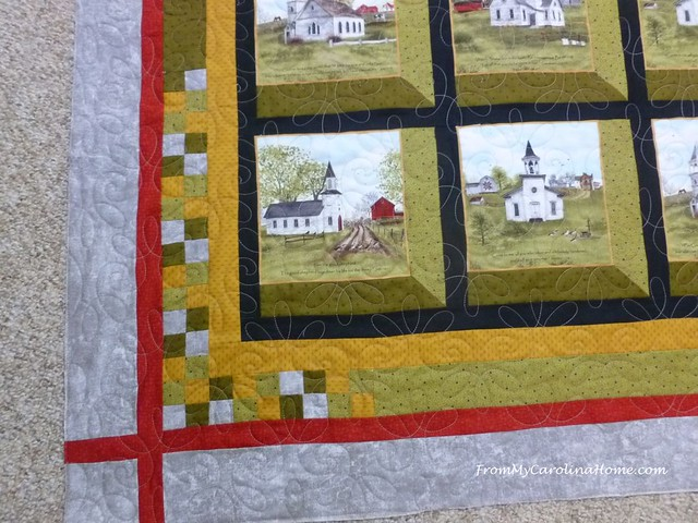 Attic Windows Churches Quilt at FromMyCarolinaHome.com