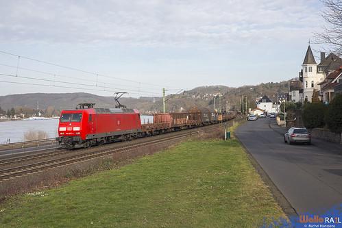 145 077 . DB Cargo . Linz (Rhein) . 15.02.20.
