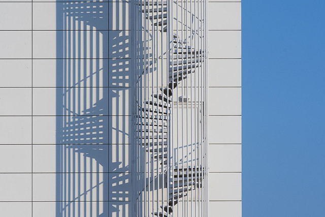 Schadowplay of a spiral staircase