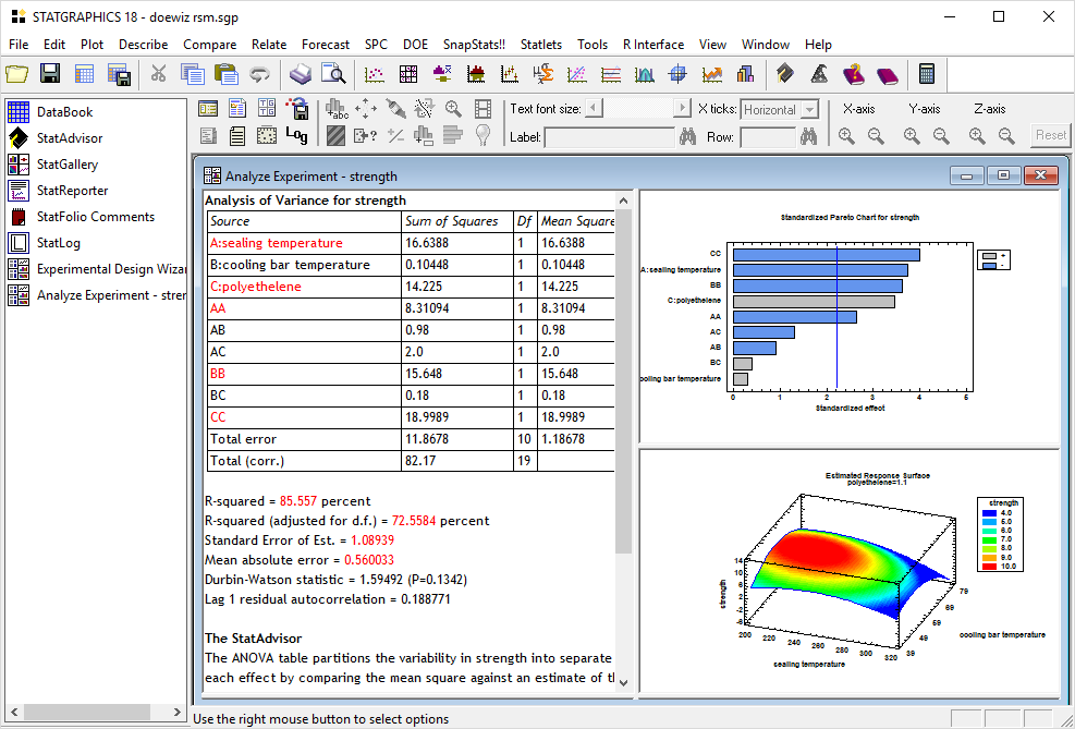 Working with Statgraphics Centurion 18 full license